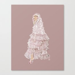 Rodarte Fashion Illustration || Illustration Print Canvas Print