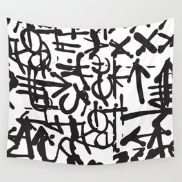 Graffiti Pattern Wall Tapestry