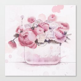 The tender touch of peonies Canvas Print