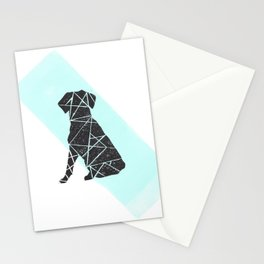 Geometic dog Stationery Cards