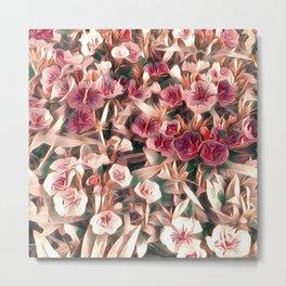 Cranberry Cream Flower Field Metal Print