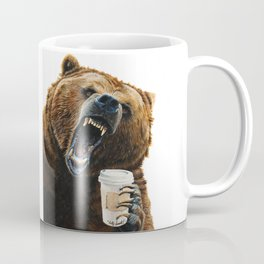 """ Grizzly Mornings "" give that bear some coffee Coffee Mug"