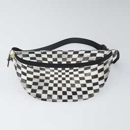 Chessboard Black Watercolor and gold Fanny Pack
