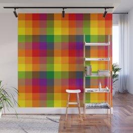 Rainbow Checkers 1 Wall Mural
