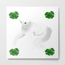 clover cat Metal Print