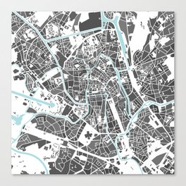 Ghent City Map I Canvas Print