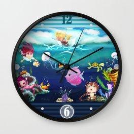 FUN•tastic Ocean ~ Colorful FUN & Friends Line Wall Clock