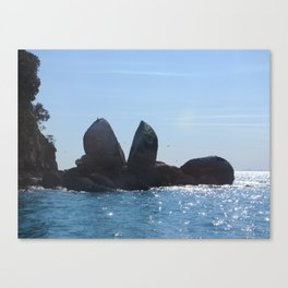 Split Apple Rock Canvas Print