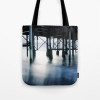 boardwalk empire Tote Bags featuring boardwalk by neutral density