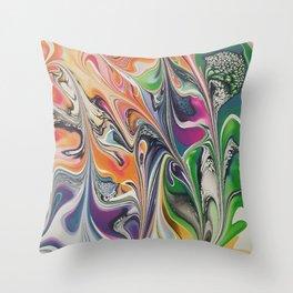 Happy Swirl Throw Pillow