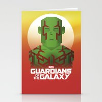 guardians of the galaxy Stationery Cards featuring Guardians of the Galaxy - Drax by Casa del Kables