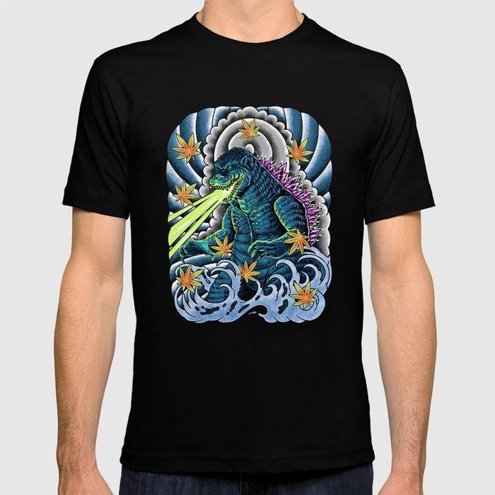 king of monster japanese tattoo T-shirt