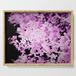 Purple Ultraviolet Leaves Botanical Serving Tray