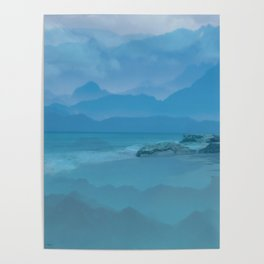 Ocean or Mountains? Poster
