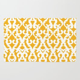 Modern Baroque Yellow Rug