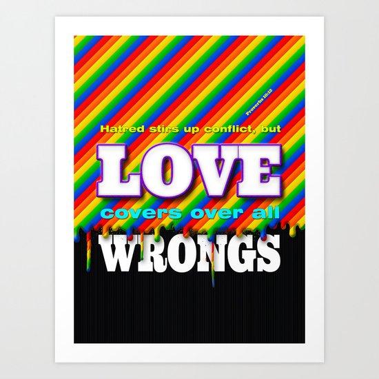 Love Covers Art Print