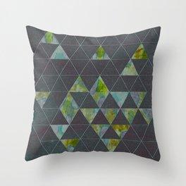Reverse Triangles Throw Pillow