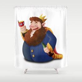 Rey de copas Shower Curtain