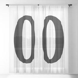 0 (BLACK & WHITE NUMBERS) Sheer Curtain