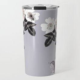 Birds and the Bees Blue Gray Travel Mug