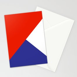 Triangles Retro Pop Art Abstract - Red White Blue Series Stationery Cards
