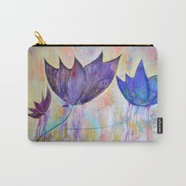 Just do you, trio of abstract lotus flowers Carry-All Pouch