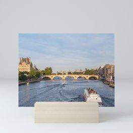 Pont Royal over the Seine river - Paris, France Mini Art Print