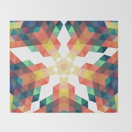 Retro star backdrop. Mosaic hipster background made of triangles Throw Blanket