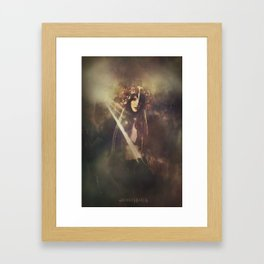 The wild huntress Framed Art Print