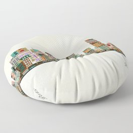 portland oregon skyline Floor Pillow