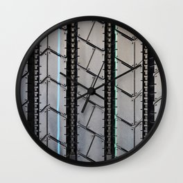 Tread pattern truck tire Wall Clock