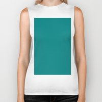 teal Biker Tanks featuring Teal by List of colors