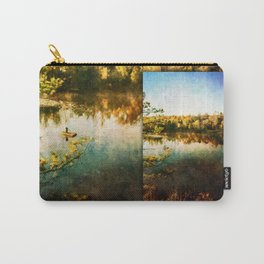 Fisherman Below the Norway Michigan Power Dam Carry-All Pouch