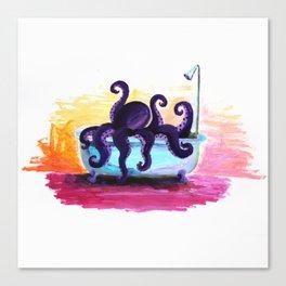 Scuba in the Tub Canvas Print