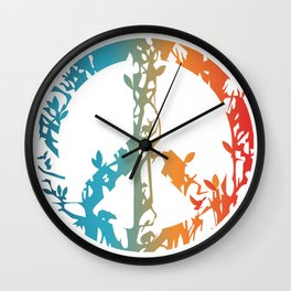 Animal nature peace sign  Wall Clock