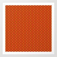 red and yellow Art Print