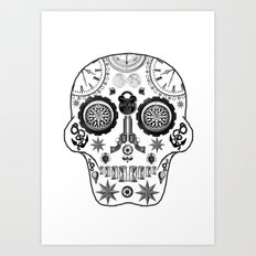 Steampunk Sugar Skull Art Print