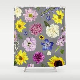 Modern Floral   Flower Power   Green Thumb Shower Curtain