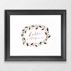 Hello October! Framed Art Print