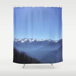 Snowy Sierra Nevada Mountains in California (US) Shower Curtain