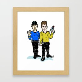 Space...  Yadda, Yadda, Yadda...  Kirk and Spock, a Star Bromance!  Star Trek With Kirk and Spock! Framed Art Print