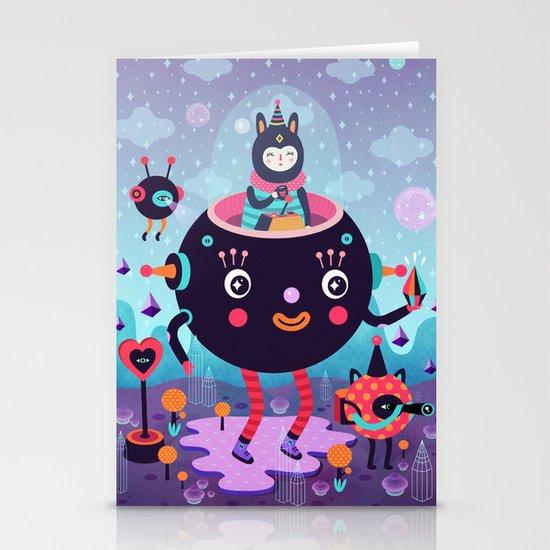 Amigos cósmicos Stationery Cards