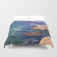 big sur Duvet Covers featuring Big Sur California Cliffs by Bethany Young Photography