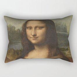 Mona Lisa, Leonardo da Vinci, 1503 Rectangular Pillow