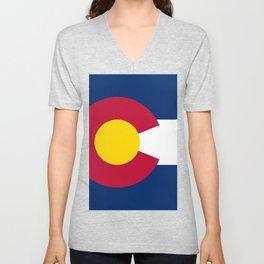Flag of Colorado Unisex V-Neck
