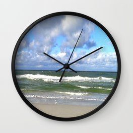 Sandpipers eating Wall Clock