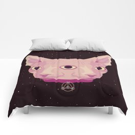 Two-Faced Sphynx From Outer Space Comforters