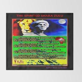 THE SPIRITED SHAKA ZULU Throw Blanket