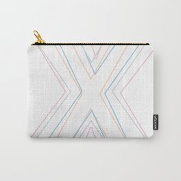 Intertwined Strength and Elegance of the Letter X Carry-All Pouch