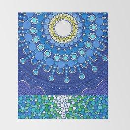 Full Moon Splendour Throw Blanket